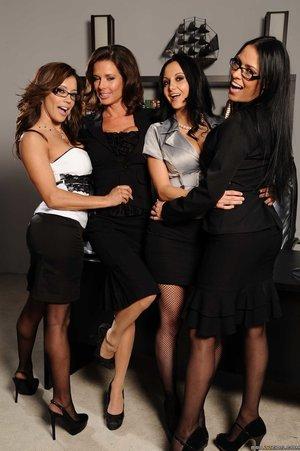 Petite latina lesbian orgy