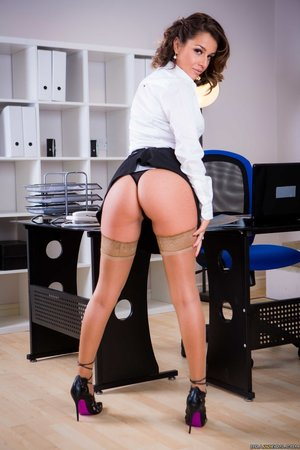 Nerdy big tit secretary