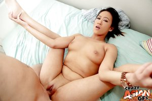 Shaved oriental pussy