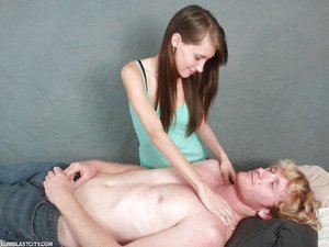 Teen skinny massage