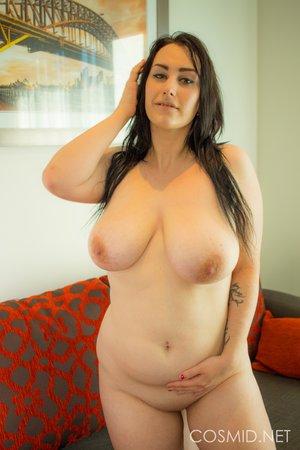 Plump big tits striptease
