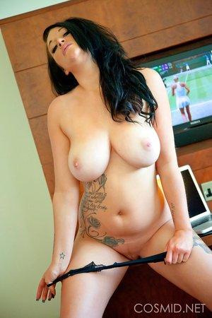 Amateur dark haired big tits