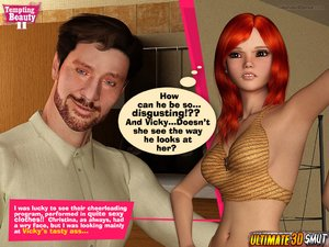 One of the hottest hp 3d comics shows a redhead beauty getting her muff eaten and fucked